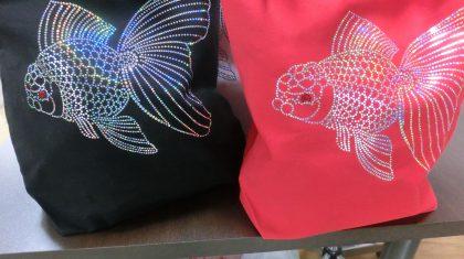 スパングルトートバッグ【よか金魚】