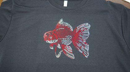 スパングルTシャツ【よか金魚】